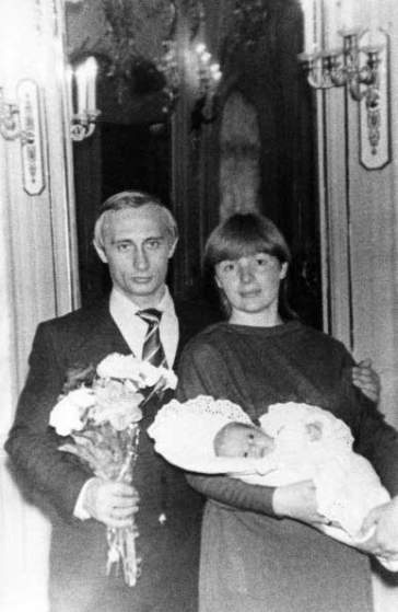 Vladimir putin with his wife lyudmila and daughter katya, spring 1985, from the putin family album.